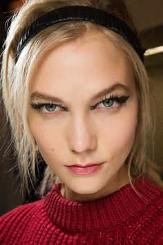 Karlie kloss backstage at Fendi Fall 2015