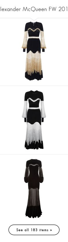 """""""Alexander McQueen FW 2017"""" by sella103 ❤ liked on Polyvore featuring dresses, black, gowns, long dress, wool dress, alexander mcqueen, cashmere dress, long cashmere dress, long wool dress and frill sleeve dress"""