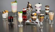 Assorted dessert shooters