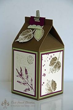 French Foliage Milk carton Stampin' UP!