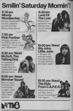 1979 ad for the NBC Saturday morning cartoon lineup | What ...