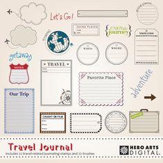 Revista DK004 descarga instantánea Digital Kit de viaje de Hero Arts