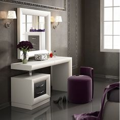 Kirkwood Bedroom Makeup Vanity Set With Mirror pertaining to proportions 1430 X 1433 Mirrored Bedroom Vanity Table - We all know how important the sack Bedroom Makeup Vanity, Bedroom Vanity Set, Makeup Vanities, Mirror Bedroom, Vanity Decor, Diy Vanity, Modern Dressing Table Designs, Dressing Room Design, Bedroom Bed Design
