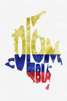 Colombia Typographic Map Flag by Inspirowl Design Trip To Colombia, Colombia Travel, Travel Gallery Wall, Colombian Art, Framed Prints, Canvas Prints, Flag Art, Tatoo, Tattoo
