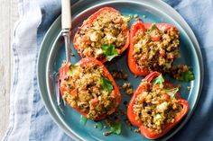 Quinoa Stuffed Capsicum What you'll need: (serves 4) 1 cup quinoa 1 onion, finely chopped 1 medium zucchini, trimmed, grated 2 garlic cloves, crushed 1 teaspoon ground cumin 2 tablespoons pine nuts…