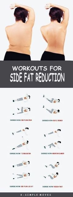 8 Effective Exercises To get rid of Side Fat. by trisha