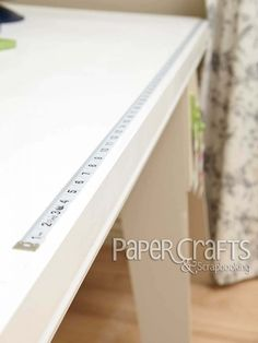 Add Measuring Tape to Table Top - Practical Solutions for Paper Crafters, Vol. 2