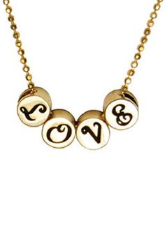 Jujubee Love Word Necklace find supplies #word charms #bezels #glass domes #chains #stamping blanks at eCrafty.com