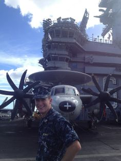12/04/2013  Lt. j.g. Nicholas Hambley, Region Legal Service Office Hawaii, on the flight deck of the USS Nimitz (CVN 68) during its port call in Hawaii....