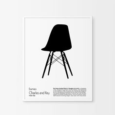 Chair PrintChair art Eames chair Print Retro by ChicScandinavian