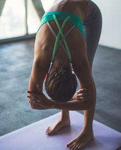 Peaceful yoga moments. This pose is amazing for your lower back. Yoga inspiration + forward fold yoga + yoga motivation