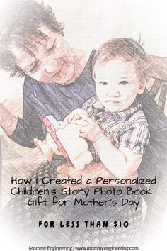 How I Created a Personalized Children's Story Photo Book Gift for Mother's Day for Less Than $10