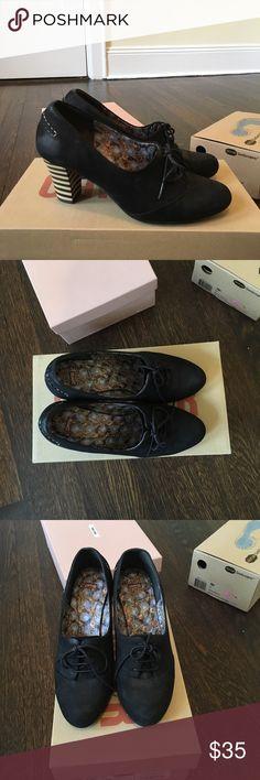 Camper Black Lace-up pumps Camper Black Suede Pumps, size 36 Camper Shoes Heels
