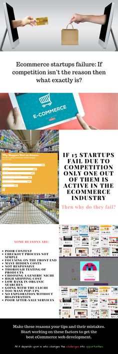 If 15 startups fail due to competition, only one out of them is active in the eCommerce industry ~ according to research by Failory. This clearly means that eCommerce startups' failure is not because of competition.