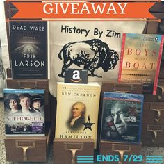 @historybyzim is hosting a really cool giveaway to celebrate the website's 5th birthday and, trust me, you do not want to pass up an opportunity to win this prize. Valued at over $150, there is a little something for any U.S. history fan!