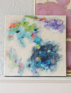DIY: paint your own abstract piece of art!