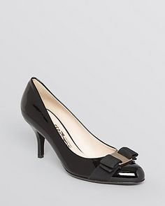Iconic elegance defines a signature Salvatore Ferragamo style that will add polish to your wardrobe for years to come. | Patent leather upper, leather lining, leather sole | Made in Italy | Fits true