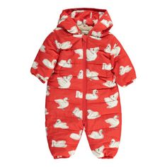 Stella McCartney Kids Puddle Swan Hooded Snowsuit-listing