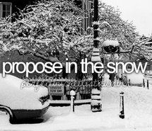 Inspiring picture before i die, perfectbucketlist, proposal, propose, snow. Resolution: 500x320 px. Find the picture to your taste!