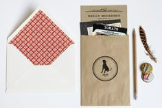 brown bag it with a stamp
