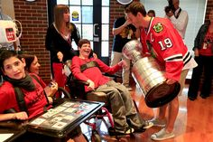 Jonathan Toews took the Stanley Cup to the Misericordia Home.