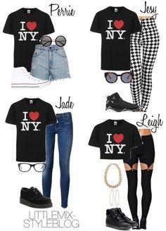 """*REQUESTED* LM Inspired with and """"I <3 NY"""" Tee by littlemix-styleblog featuring round sunglasses Hudson Jeans jeans, $210 / Nobody Denim boy shorts, $195 / Estradeur elastic waist pants, $27 / Balenciaga high top shoes / Underground black shoes, $150 / Converse white shoes, $110 / Social Anarchy hoop earrings / Gold jewelry, $6.08 / The Row round sunglasses / Ray Ban eyeglass / Cheap Monday cateye sunglasses / NIKE Jordan True Flight Men's Basketball Shoe / N21"""