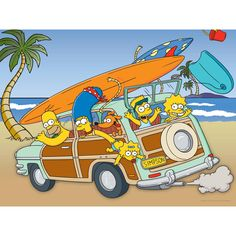 The Simpsons Family Vacation Wall Art