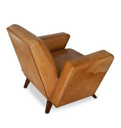 Lina Bo Bardi; Leather Club Chair, 1940s.