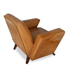 Lina Bo Bardi; Leather Club Chair, 1940s.