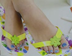 Everyday Life at Leisure: Duct Tape Flip Flops Craft Pattern