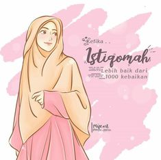 @mifta_fetrisia Muslim Pictures, Islamic Pictures, Hijab Quotes, Muslim Quotes, I Muslim, Muslim Women, Girl Hair Drawing, Hijab Drawing, Jodoh Quotes