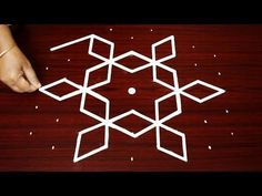 Simple Rangoli Design with 9X5 Dots | Easy Kolam Designs | Easy Rangoli Designs | Happy Chrismas - YouTube