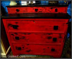 Miss Mustard Seed's Milk Paint in Tricycle Red #The Shabbiest Chick