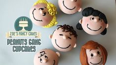 Peanuts movie cupcakes peanuts gang cupcake tutorial