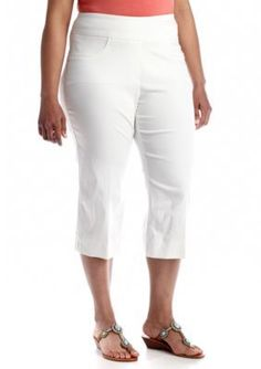 Ruby Rd  Plus Size Tech Stretch Capri
