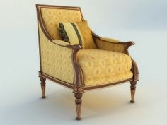 Antique french armchair 3d model