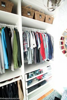 Small Walk In Closet Makeover Reveal {with Ikea Pax U0026 Removable Wallpaper