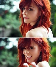 Red head beautiful-women