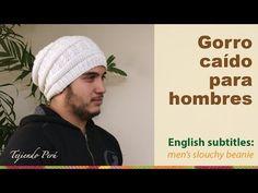 Men´s crochet slouchy beanie / Gorro caído para hombres (bebés, niños y adultos) tejido a crochet - YouTube