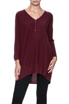Oversized v-neck longsleevesweater with dropped shoulders.   Cashmere Oversized Sweater by Pure Amici. Clothing - Sweaters - V-Neck Clothing - Sweaters - Cashmere Wisconsin