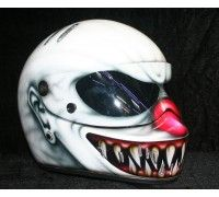American Nightmare by Riders DNA -  Custom airbrush paint, race, racing, drifting, motorcycle helmet. www.ridersdna.com, MBK Bangkok, Thailand