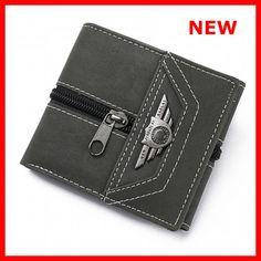 Wallet Men Leather Wallets Purse Short Male Money Bag Credit Card Id Holder 2018 #Unbranded
