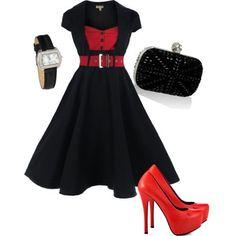 Plus size retro dress - more → http://carolonlinefashion.blogspot.com/2013/09/plus-size-retro-dress.html