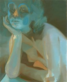 Painting by Kaye Donachie Dusk shed by a lamp brightens the tears, oil on canvas, 55.5 x 45.5 cm, 2009