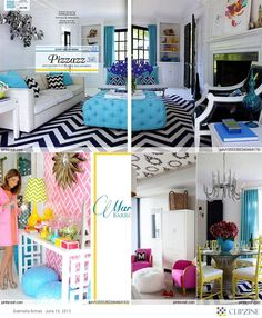 loveee the blue pillows with the black chevron!