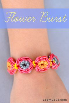 Amazing Flower Burst #RainbowLoom bracelet!
