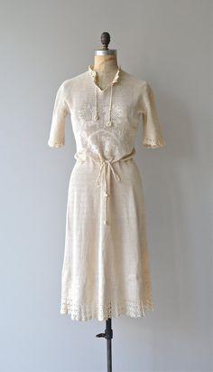 Merezhka dress vintage 1930s crochet dress cotton by DearGolden