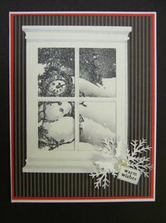*QFTD88 F4A92 Moonlit Snowy Scene by hobbydujour - Cards and Paper Crafts at Splitcoaststampers