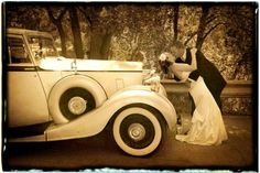 Beautiful vintage wedding photo...definitely Karen......love the color.. And we have vintage car