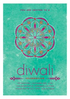 Celebrate the festival of lights with bright Diwali invitations! Shop Celebratory Ringol Diwali Cards by Aspacia Kusulas at minted.com